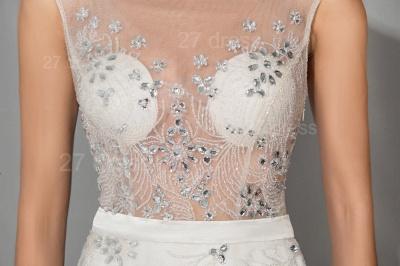 Elegant Cap Sleeve Evening Dress UK Front Split Crystals_4