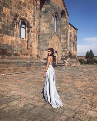 Luxury Sleeveless Straps Evening Dress UK Lace Appliques Mermaid With Ruffles_3
