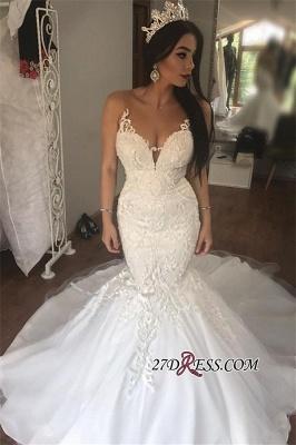 Gorgeous Sleeveless Wedding Dress | Sexy Mermaid Long Bridal Gowns On Sale_2
