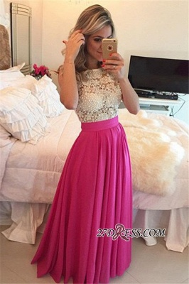 Beadings Newest Floor-Length Sleeveless Lace A-Line Prom Dress UK_2