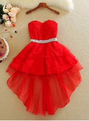 Lovely Sweetheart Homecoming Dress UK Short With lace and Beads_2