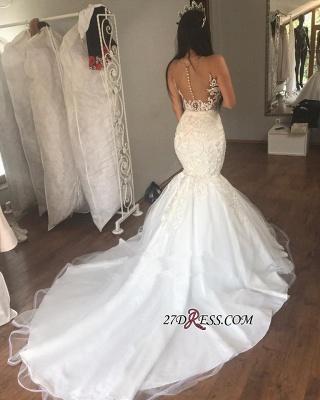 Gorgeous Sleeveless Wedding Dress | Sexy Mermaid Long Bridal Gowns On Sale_1
