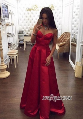 Red Gorgeous A-Line Spaghetti-Straps Sweetheart Evening Dress UK BA5003_2