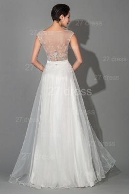 Elegant Cap Sleeve Evening Dress UK Front Split Crystals_5