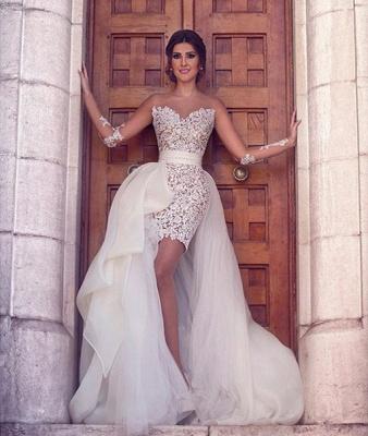 Luxury Long Sleeve Lace Appliques Prom Dress UKes UK Tulle Short Skirt MH309_2