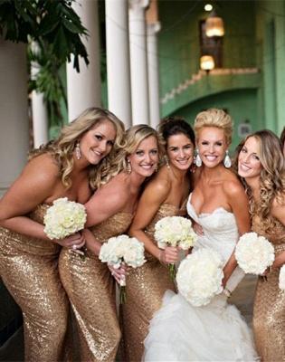 Gorgeous Mermaid Side Split Bridesmaid Dress UK Sleeveless Sequins_4