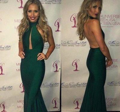 Luxury Green Halter Prom Dress UKes UK Mermaid Keyhole Party Gowns_3