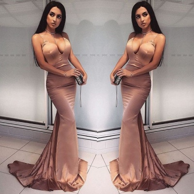 Sexy V-Neck Mermaid Prom Dress UK | Long Evening Dress UK_3