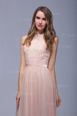 Sexy Illusion Chiffon Evening Dress UK Lace Appliques Floor-length_3