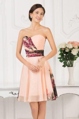 Sexy Summer Beach Short Homecoming Dress UKes UK Print Chiffon Sweetheart Pleats Prom Dress UKes UK_2