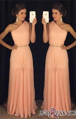 Chiffon Beautiful Floor-Length One-Shoulder Long Prom Dress UK BA5243_2