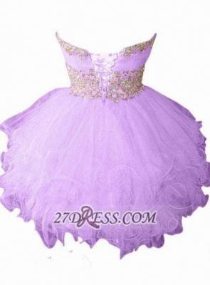 Lovely Semi-sweetheart Sleeveless Short Homecoming Dress UK With Beadings And Crystals_2