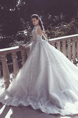Elegant Long Sleeve Lace Wedding Dress Sexy Mermaid On Sale_2