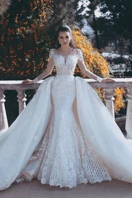 Elegant Long Sleeve Lace Wedding Dress Sexy Mermaid On Sale_1