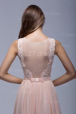 Sexy Illusion Chiffon Evening Dress UK Lace Appliques Floor-length_4