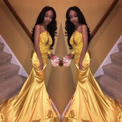 Modern Lace Appliques Mermaid Prom Dress UK | Elegant Prom Dress UK_3