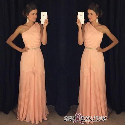 Chiffon Beautiful Floor-Length One-Shoulder Long Prom Dress UK BA5243_1