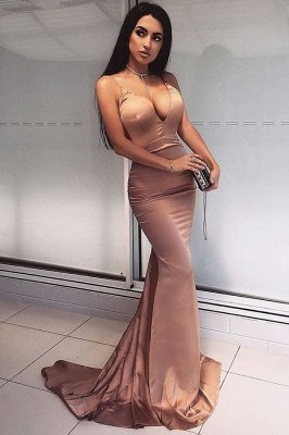 Sexy V-Neck Mermaid Prom Dress UK | Long Evening Dress UK_1