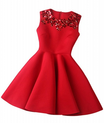 Luxury A-Line Sleeveless Homecoming Dress UK With Sequins_1