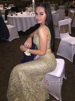 Mermaid Two-Pieces Evening Dress UK Online | Sleeveless Lace Prom Dress UK_2