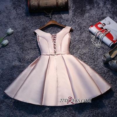 Sexy Short Lace-up Sleeveless Homecoming Dress UK_3