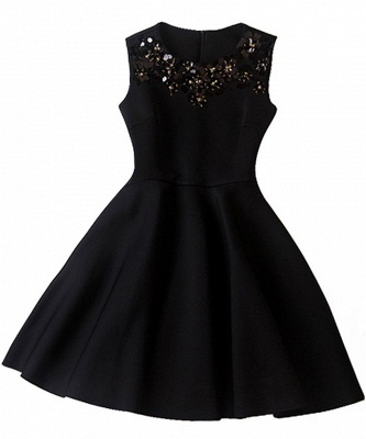 Luxury A-Line Sleeveless Homecoming Dress UK With Sequins_3