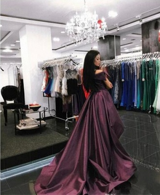 Gorgeous Off-the-Shoulder Mermaid Evening Dress UK Long With Ruffles_1