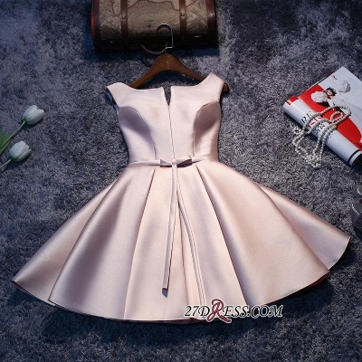 Sexy Short Lace-up Sleeveless Homecoming Dress UK_1