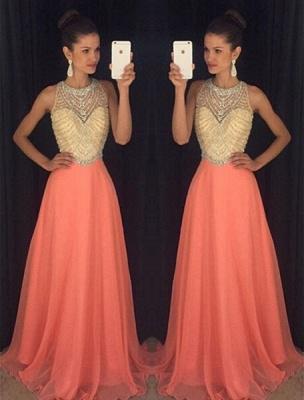 Classic Sleeveless Beadings Crystal Prom Dress UKes UK Long Chiffon AP0_1