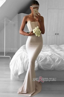 Mermaid Sweep-Train Simple Sexy Strapless Prom Dress UK BA6686_1