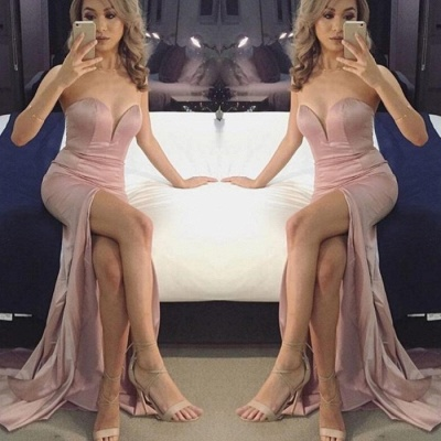 Sexy Sweetheart Prom Dress UK | Mermaid Evening Gowns With Slit_3
