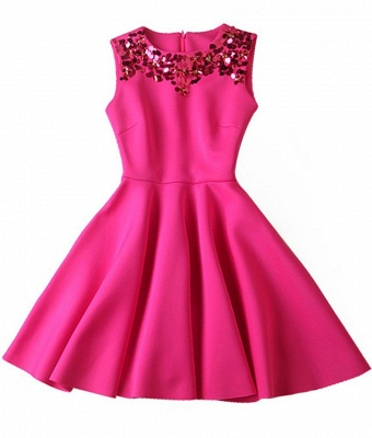Luxury A-Line Sleeveless Homecoming Dress UK With Sequins_4