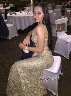 Mermaid Two-Pieces Evening Dress UK Online   Sleeveless Lace Prom Dress UK_2