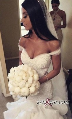Newest Sexy Mermaid Elegant Sweetheart Crystal Ruffles Wedding Dress_5
