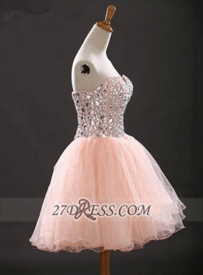 Gorgeous Sweetheart Sleeveless Short Homecoming Dress UK With Crystals Lace-up BA6890_4