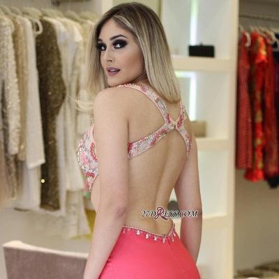 Pink prom Dress UK, mermaid party Dress UK online_1