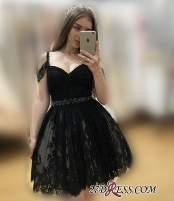 Lace Burgundy Off-the-Shoulder Elegant Bead A-line Homecoming Dress UKes UK_4