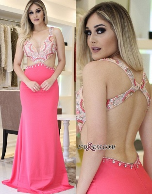 Pink prom Dress UK, mermaid party Dress UK online_4