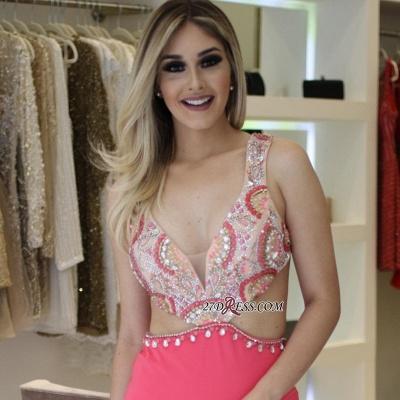 Pink prom Dress UK, mermaid party Dress UK online_2