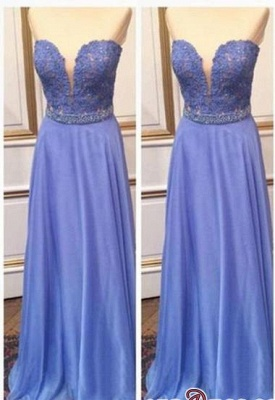 Floor-Length Sexy Sweetheart Crystal Lace A-Line Prom Dress UKes UK_2