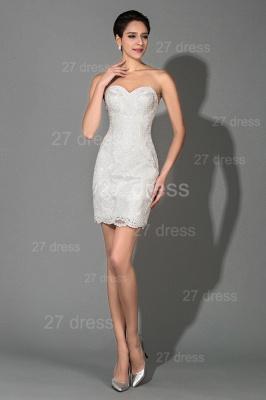 Elegant Bodycon Short Sweetheart Prom Dress UK Sleeveless Zipper_1