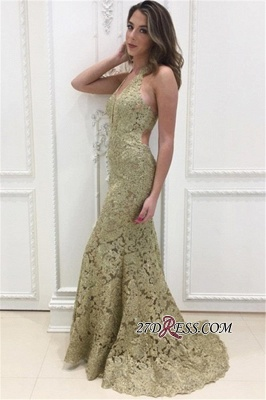 Sleeveless Open-Back Lace Prom Dress UK | Mermaid Long Evening Party Dress UK_2