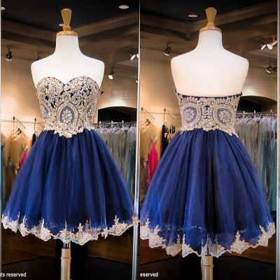 Luxurious Sleeveless Sweetheart Short Homecoming Dress UK Crystals Appliques_3