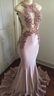 Modern Lace Appliques Sleeveless Prom Dress UK | Mermaid Prom Dress UK BA8042_1