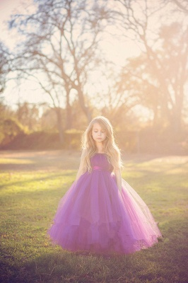 Lovely Sleeveless Purple Tulle Princess Flower Girl Dress Princess BA3422_3