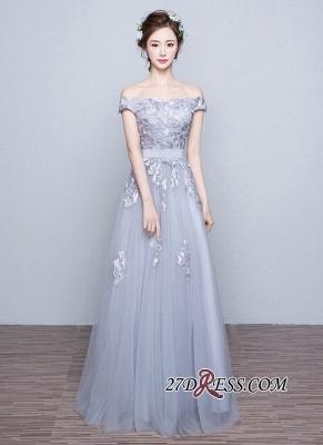 Lace-Up-Back Floor-Length Lace-Appliques Off-the-Shoulder A-line Prom Dress UKes UK_5