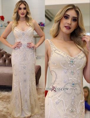 V-Neck crystal prom Dress UK, mermaid long evening Dress UK_4