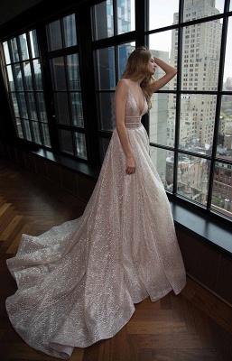 Elegant V-Neck Sleeveless Prom Dress UK Long Sequins BA3399_2