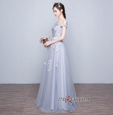 Lace-Up-Back Floor-Length Lace-Appliques Off-the-Shoulder A-line Prom Dress UKes UK_4