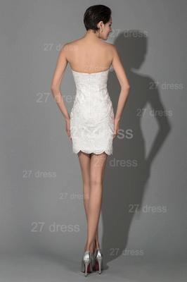Elegant Bodycon Short Sweetheart Prom Dress UK Sleeveless Zipper_2